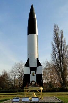 A replica of V2 rocket