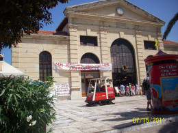 The central Market Square in Chania, right in front of our bus stop.