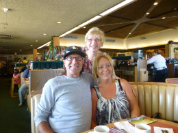Daughter Vickie and her fellow dropped in to dine with us on her birthday.  We had a booth full of family together that day!