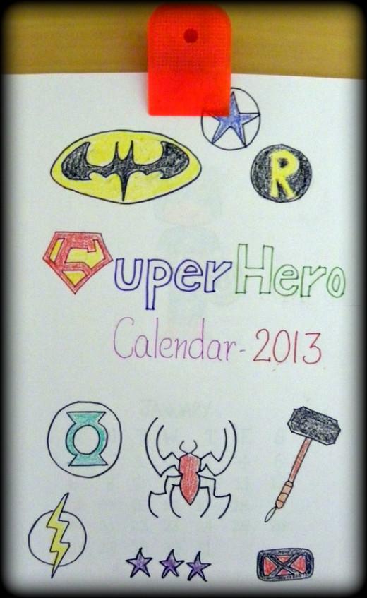 Finally add a Superhero calendar cover page