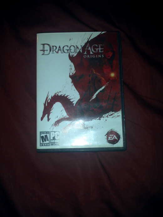 Photograph of Dragon Age:Origins cover art