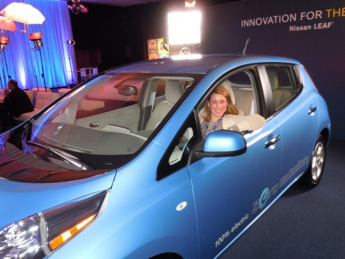 I'm testing out the 100% electric Nissan Leaf in 2011