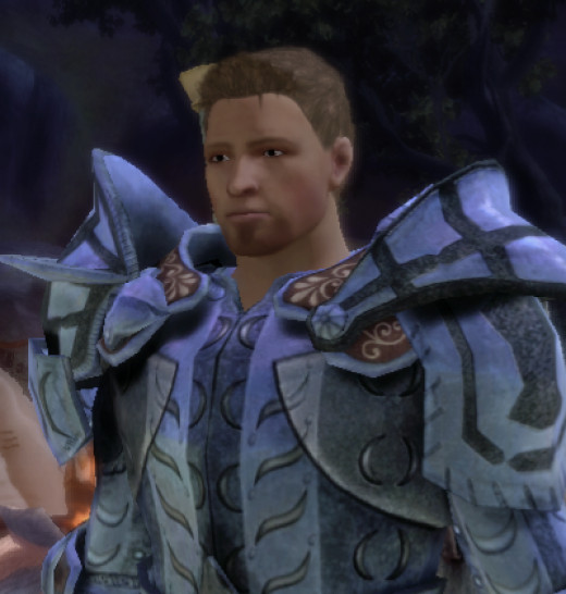 Screencap of Alistair from Dragon Age:Origins