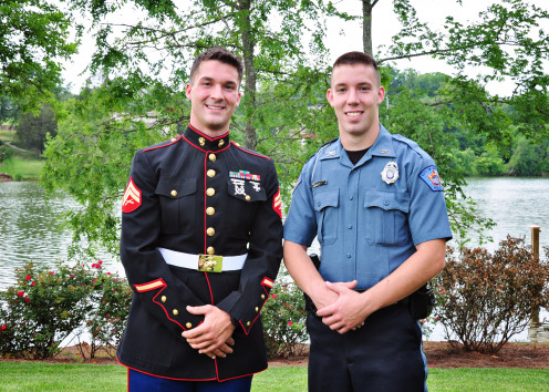 My sons, both successful, driven men who serve in uniform.  Both are successful children of a single mom.