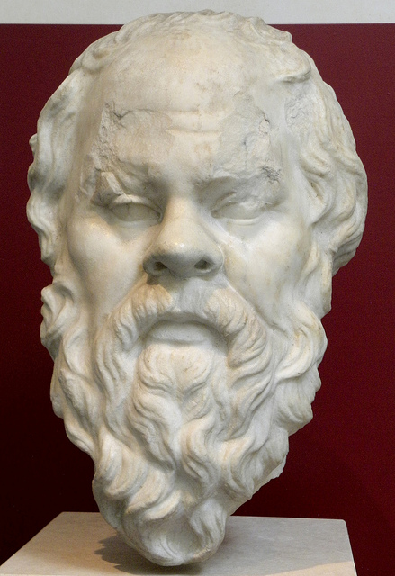 Roman replica from the 1st century AD of a Greek portrait of Socrates.