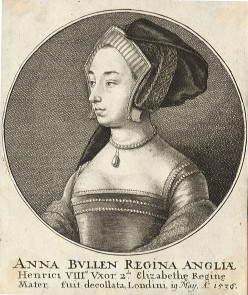 Anne Boleyn, by Wenceslaus Hollar