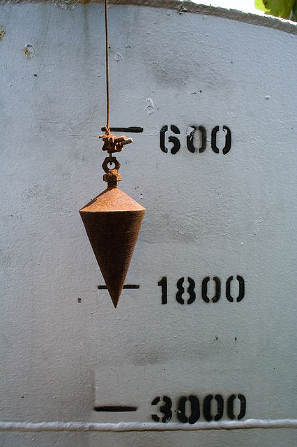 This plumb bob may have actually been used by God to 'measure out' the standards of original principles... Lord knows it's old enough.