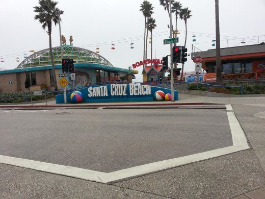 Santa Cruz boardwalk is filled with day long activities, rides, food and people watching.