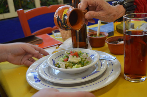 "Ceviche Verde as served in the Mexican Street Food Restaurant ""El Bajío""."