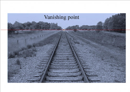 Perspective using one vanishing point addresses lines that are parallel