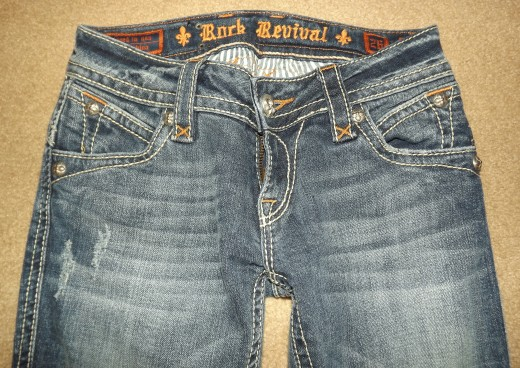 Bottom 5 Images are of Rock Revival Stephanie Cut Jeans