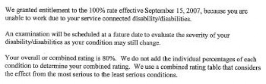 Unemployability Approved October 2008