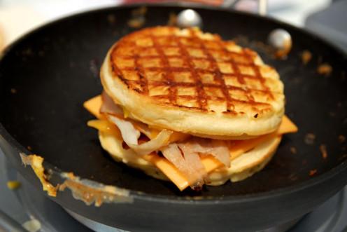 Waffle breakfast sandwich recipe