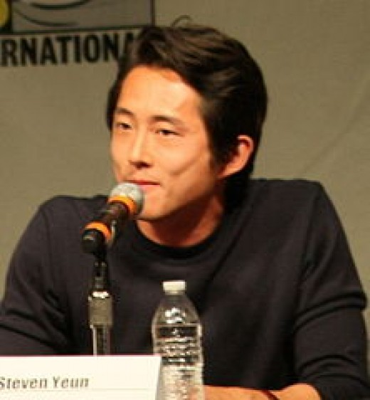 "Steven Yeun at the 2012 Comic Con San Diego, promoting ""The Walking Dead."""