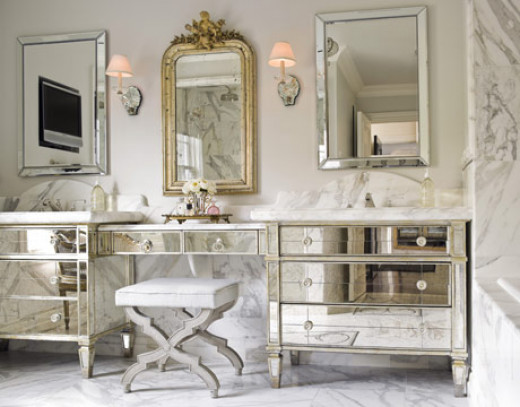 Mirrored surfaces reflect and add space