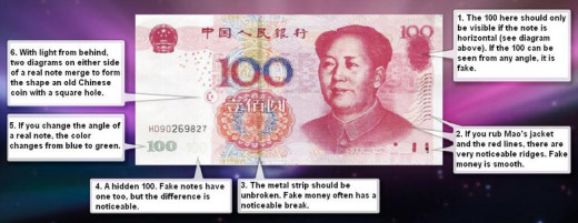 How to check the fake RMB bill?