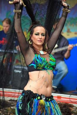 Jody the belly dancer.