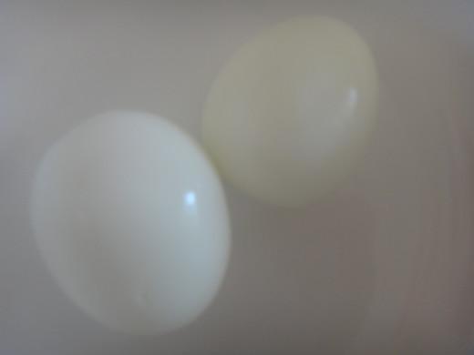 The eggs peeled