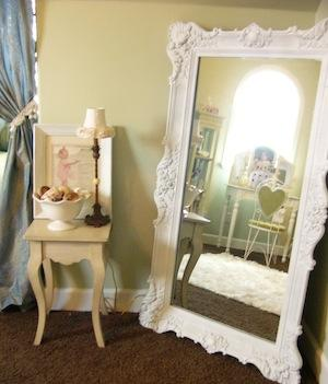 Mirrors are great as shabby chic home accessories. They compliment any room very nicely.