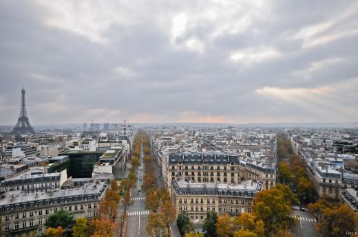 Paris from L'arc de Triomphe