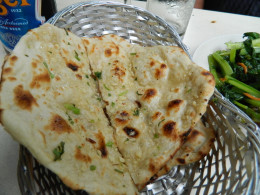 Garlic Naam $1.50 and delicious ! Fresdhly made on the spot .