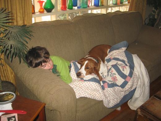 Must nap with small human...must nap with small human...must nap with small human.