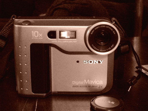 The Mavica MVC-FD71 Digital Camera.