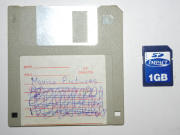"A 3.5"" floppy next to  SD card."