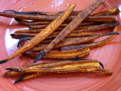 Freakin' delicious. No need to wreck your healthy lifestyle with these oven roasted carrots.