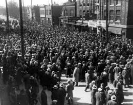 Ford Hunger March 1932, organized by John Schmies, communist candidate for mayor of Detroit