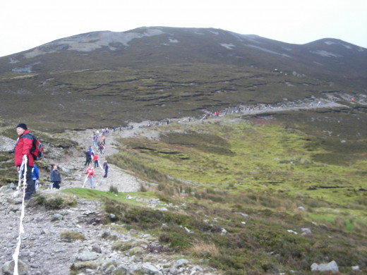 Bra chain on Croagh Patrick-Irelands Holy Mountain