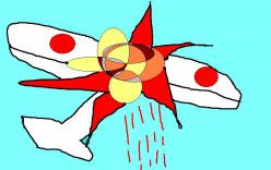 A Japanese zero blown away!