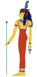 The Ancient Egyptian Goddess of  Ma'at who represented truth, balance, order, law, morality, and justice.