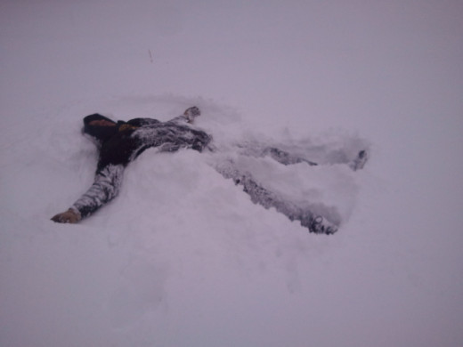 making snow angels in wichita, ks! 2/21/2013