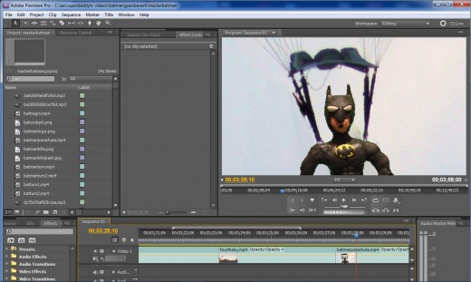Editing/Production in Adobe Premiere CS5