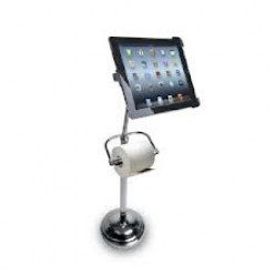Revolutionary Top Selling Pedestal for iPad with Toilet Paper Roll Holder