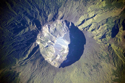 Mount Tambora is an active volcano