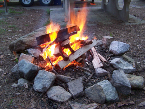 Building a campfire is a science lesson in action.