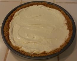 Cream cheese pie with homemade graham cracker crust