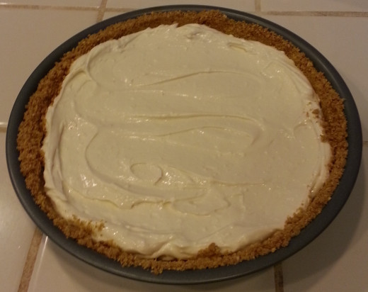 Cream cheese pie with homemade graham cracker crust