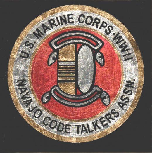 W W II US Marine Navajo Code Talkers replica patch