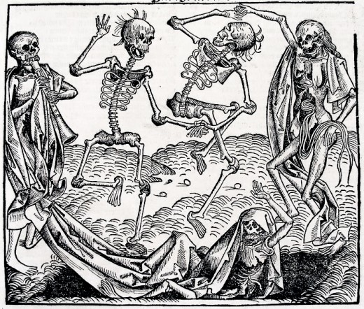 Holbein's symbolic representation of death sums up the feelings well of those caught up in the horror of the great plagues.