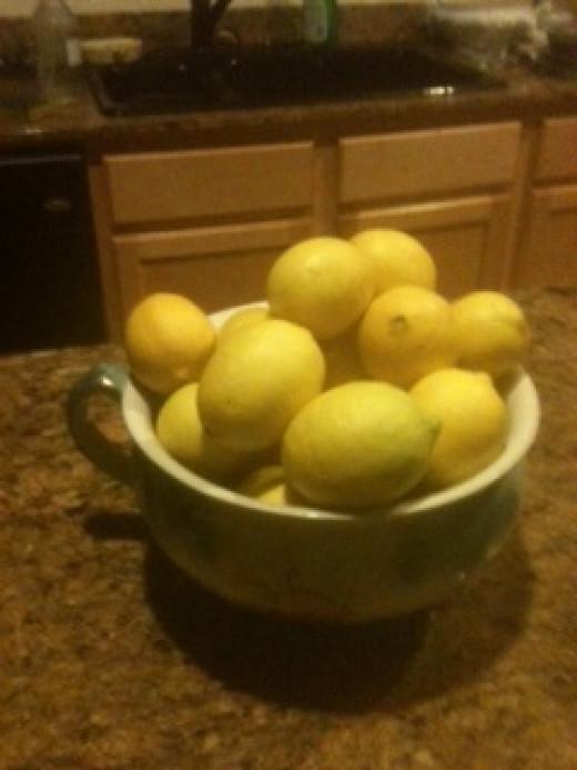 Lemons give the soup a special flavor