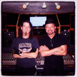 Drummer Paul Bostaph (Slayer, Testament, Exodus) in the studio with Geoff Tate