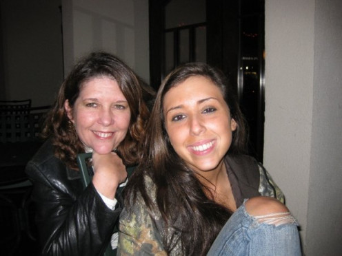 My Mom and I.  Most people say we look so much alike.  Funny thing is that even though her blood isn't pumping through my veins, I completely agree that we do look related.