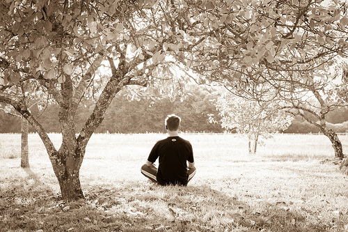 Becoming calm and centered through meditation or using guided imagery to direct your thoughts are both methods of self-healing.