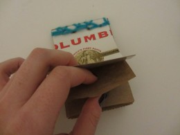 A mini notebook is a fun project that can be made out of household junk.