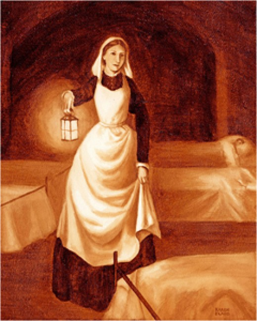 Florence Nightingale changed sanitary conditions and saved many soldiers lives.
