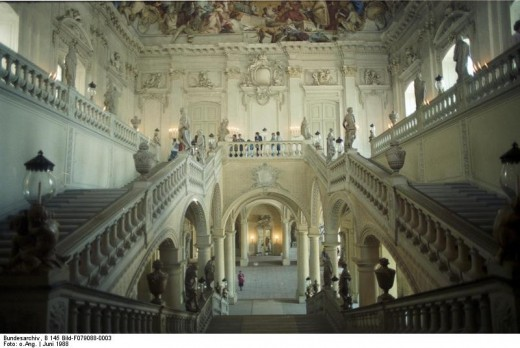 The Treppenhaus, (grand staircase) in the Wurzburg Residence.