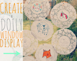doily crafts - create a window display